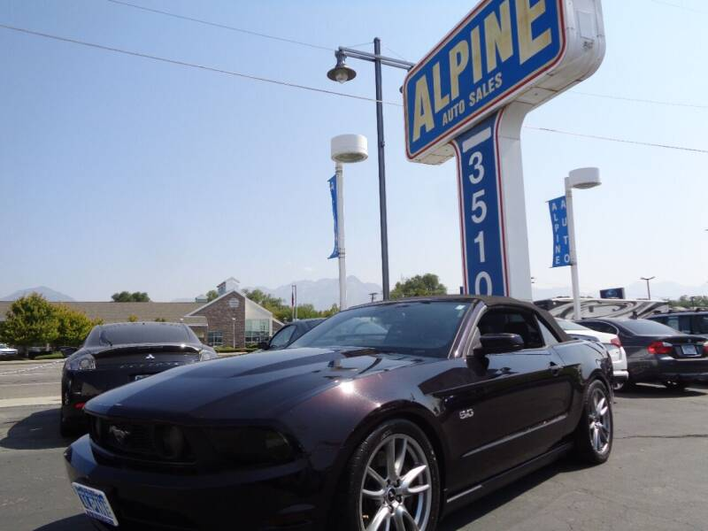 2012 Ford Mustang for sale at Alpine Auto Sales in Salt Lake City UT