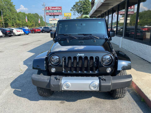 2015 Jeep Wrangler Unlimited for sale at J Franklin Auto Sales in Macon GA