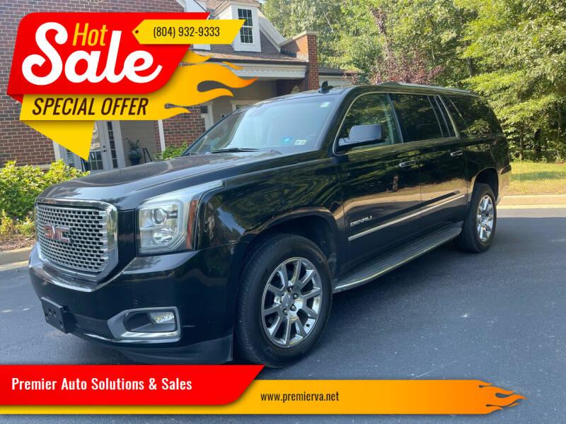2015 GMC Yukon XL for sale at Premier Auto Solutions & Sales in Quinton VA