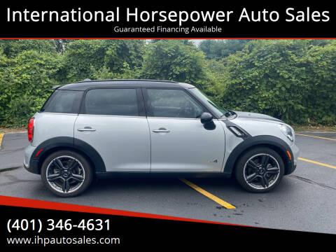 2012 MINI Cooper Countryman for sale at International Horsepower Auto Sales in Warwick RI
