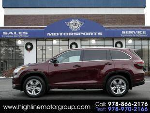 2015 Toyota Highlander for sale at Highline Group Motorsports in Lowell MA