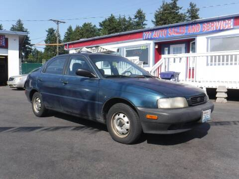 1995 Suzuki Esteem for sale at 777 Auto Sales and Service in Tacoma WA