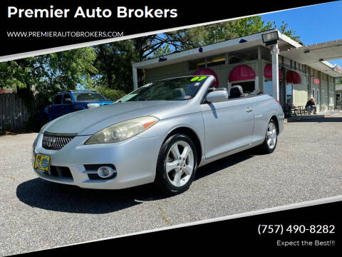 2007 Toyota Camry Solara for sale at Premier Auto Brokers in Virginia Beach VA