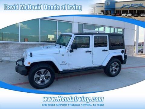2017 Jeep Wrangler Unlimited for sale at DAVID McDAVID HONDA OF IRVING in Irving TX
