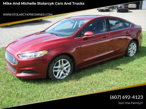 2016 Ford Fusion for sale at Mike and Michelle Stolarcyk Cars and Trucks in Whitney Point NY
