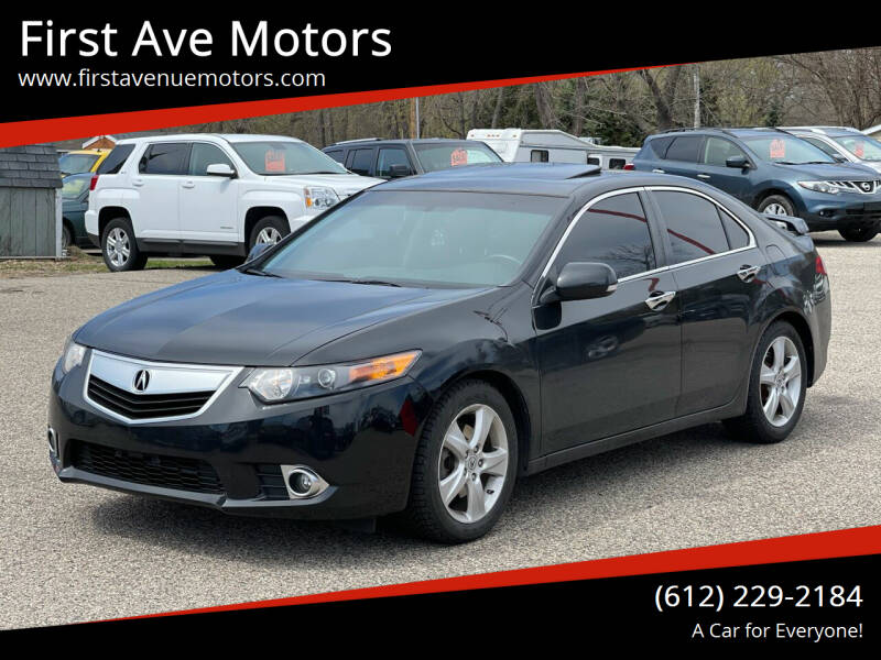 2010 Acura TSX for sale at First Ave Motors in Shakopee MN
