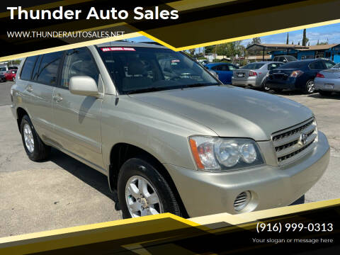 2003 Toyota Highlander for sale at Thunder Auto Sales in Sacramento CA