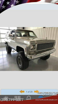 1978 GMC Jimmy for sale at Fair & Friendly Car & Truck Sales in Foristell MO