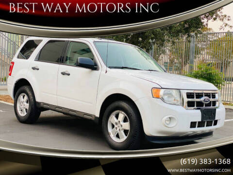 2011 Ford Escape for sale at BEST WAY MOTORS INC in San Diego CA