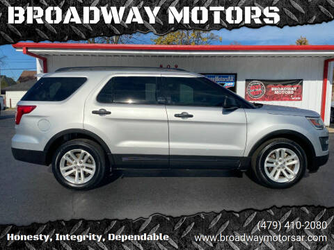 2016 Ford Explorer for sale at BROADWAY MOTORS in Van Buren AR