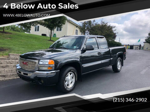 2005 GMC Sierra 1500 for sale at 4 Below Auto Sales in Willow Grove PA