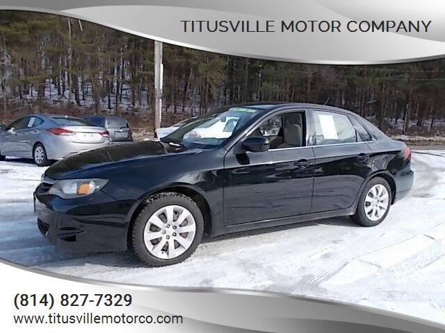 2011 Subaru Impreza for sale at Titusville Motor Company in Titusville PA