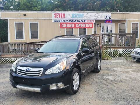 2010 Subaru Outback for sale at Seven and Below Auto Sales, LLC in Rockville MD