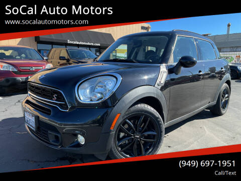 2016 MINI Countryman for sale at SoCal Auto Motors in Costa Mesa CA