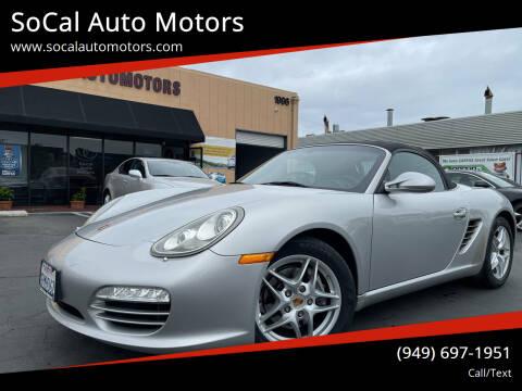 2009 Porsche Boxster for sale at SoCal Auto Motors in Costa Mesa CA