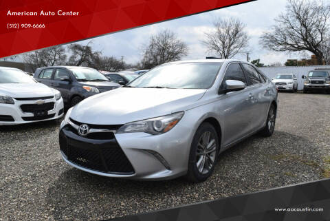 2016 Toyota Camry for sale at American Auto Center in Austin TX