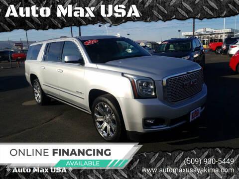 2016 GMC Yukon XL for sale at Auto Max USA in Yakima WA
