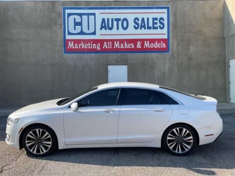 2017 Lincoln MKZ for sale at C U Auto Sales in Albuquerque NM