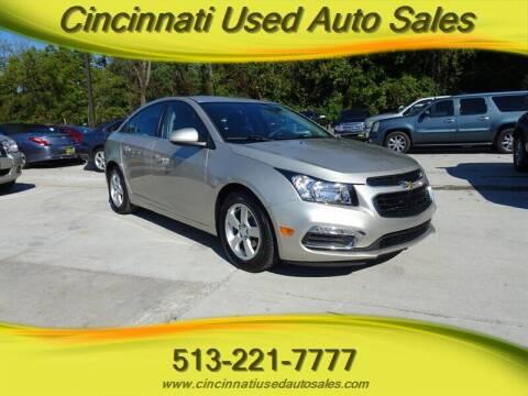 2015 Chevrolet Cruze for sale at Cincinnati Used Auto Sales in Cincinnati OH