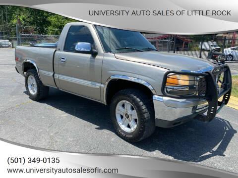 1999 GMC Sierra 1500 for sale at University Auto Sales of Little Rock in Little Rock AR