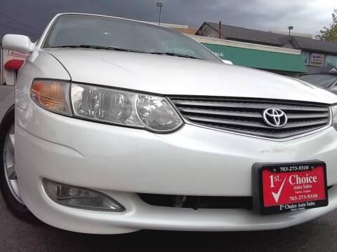 2003 Toyota Camry Solara for sale at 1st Choice Auto Sales in Fairfax VA