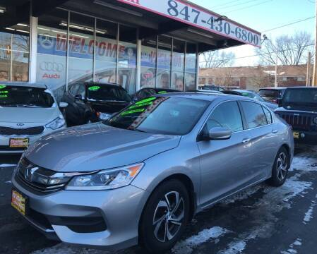 2017 Honda Accord for sale at EL SOL AUTO MART in Franklin Park IL
