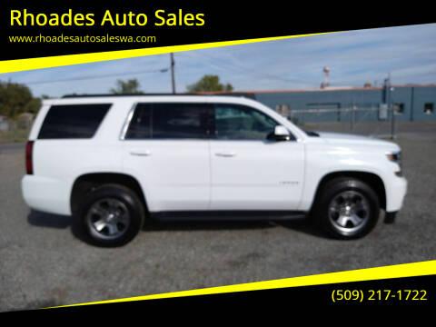 2018 Chevrolet Tahoe for sale at Rhoades Auto Sales in Spokane Valley WA