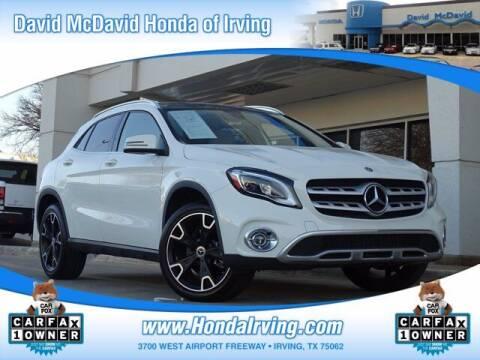 2018 Mercedes-Benz GLA for sale at DAVID McDAVID HONDA OF IRVING in Irving TX