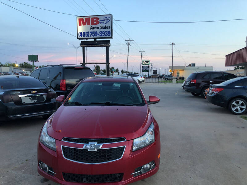 2014 Chevrolet Cruze for sale at MB Auto Sales in Oklahoma City OK