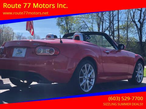 2012 Mazda MX-5 Miata for sale at Route 77 Motors Inc. in Weare NH
