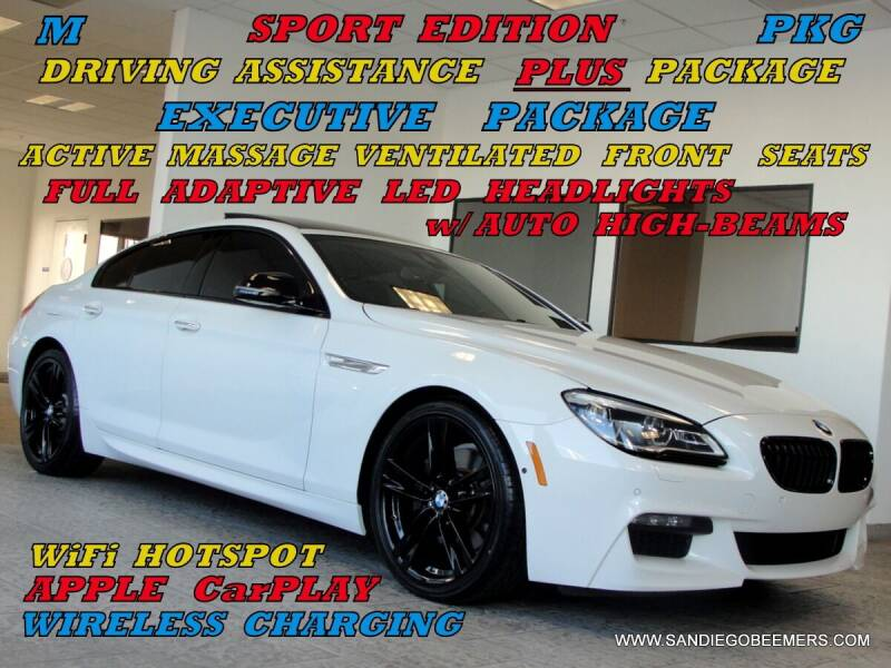 2017 BMW 6 Series for sale at SAN DIEGO BEEMERS in San Diego CA