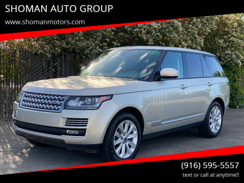 2014 Land Rover Range Rover for sale at SHOMAN MOTORS in Davis CA
