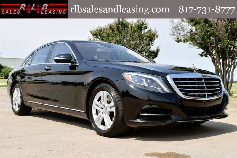 2017 Mercedes-Benz S-Class for sale at RLB Sales and Leasing in Fort Worth TX