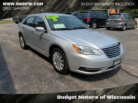 2011 Chrysler 200 for sale at Budget Motors of Wisconsin in Racine WI