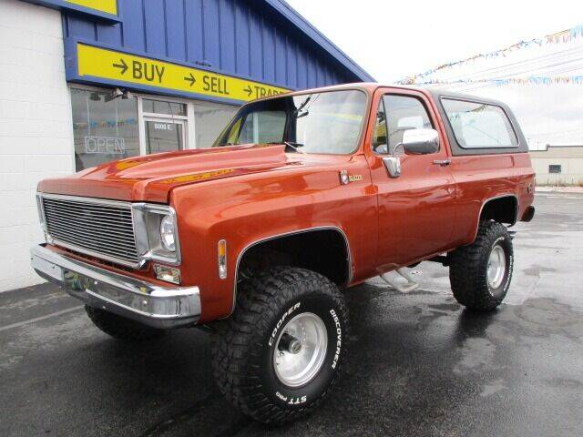 1977 Chevrolet K5 Blazer Cheyenne for sale at Affordable Auto Rental & Sales in Spokane Valley WA