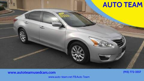 2015 Nissan Altima for sale at AUTO TEAM in El Paso TX