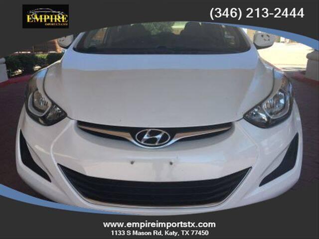 2016 Hyundai Elantra for sale at EMPIREIMPORTSTX.COM in Katy TX