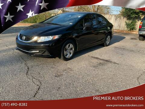 2014 Honda Civic for sale at Premier Auto Brokers in Virginia Beach VA