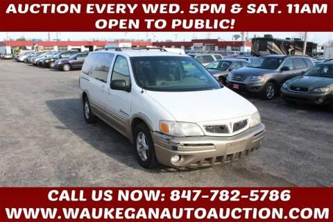 2002 Pontiac Montana for sale at Waukegan Auto Auction in Waukegan IL