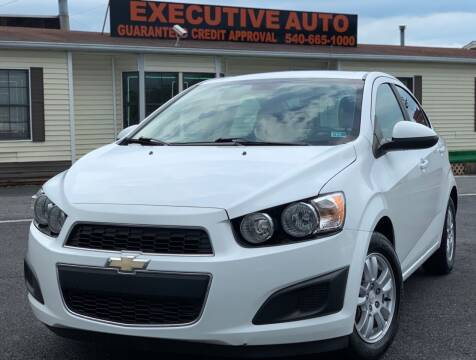 2013 Chevrolet Sonic for sale at Executive Auto in Winchester VA