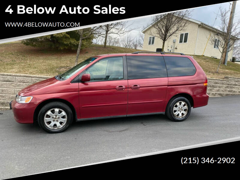 2003 Honda Odyssey for sale at 4 Below Auto Sales in Willow Grove PA