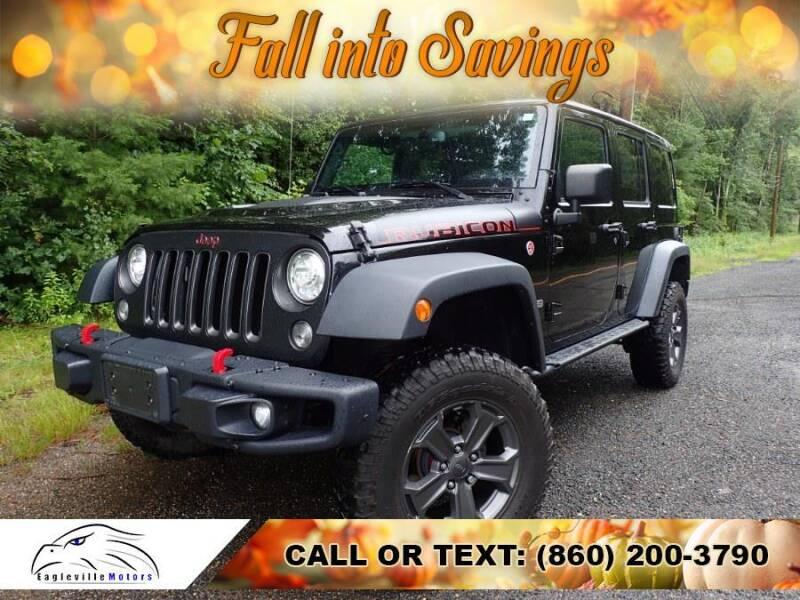 2018 Jeep Wrangler JK Unlimited for sale at EAGLEVILLE MOTORS LLC in Storrs Mansfield CT
