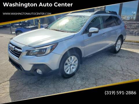 2018 Subaru Outback for sale at Washington Auto Center in Washington IA