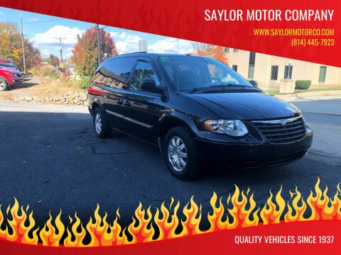 2007 Chrysler Town and Country for sale at Saylor Motor Company in Somerset PA