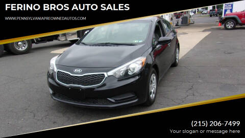 2016 Kia Forte for sale at FERINO BROS AUTO SALES in Wrightstown PA
