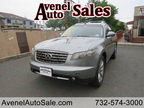 2007 Infiniti FX35 for sale at Avenel Auto Sales in Avenel NJ