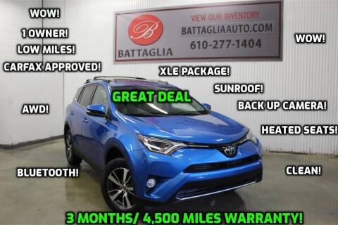 2018 Toyota RAV4 for sale at Battaglia Auto Sales in Plymouth Meeting PA