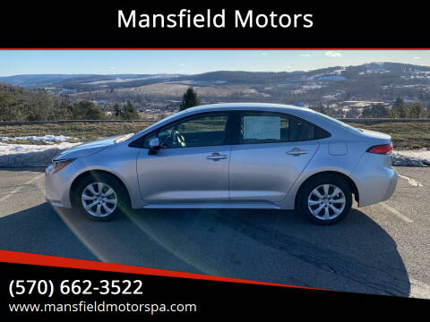 2020 Toyota Corolla for sale at Mansfield Motors in Mansfield PA