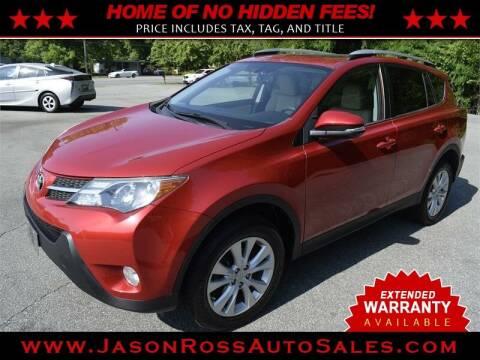 2014 Toyota RAV4 for sale at Jason Ross Auto Sales in Burlington NC
