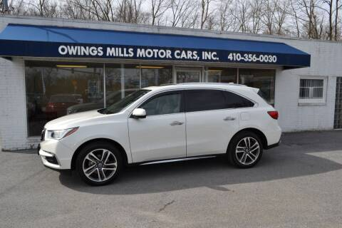 2017 Acura MDX for sale at Owings Mills Motor Cars in Owings Mills MD
